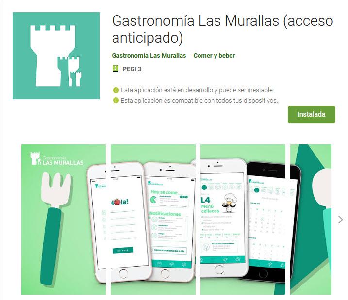 Imagen de la opción de descarga de la APP de Las Murallas desde Google Play.